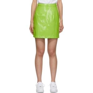 Kirin Green Latex Miniskirt
