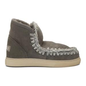Mou Grey Mini Sneaker Boots