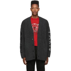Kenzo Grey Wool Paris Cardigan