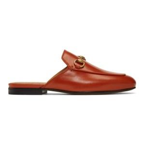 Gucci Orange Princetown Slippers