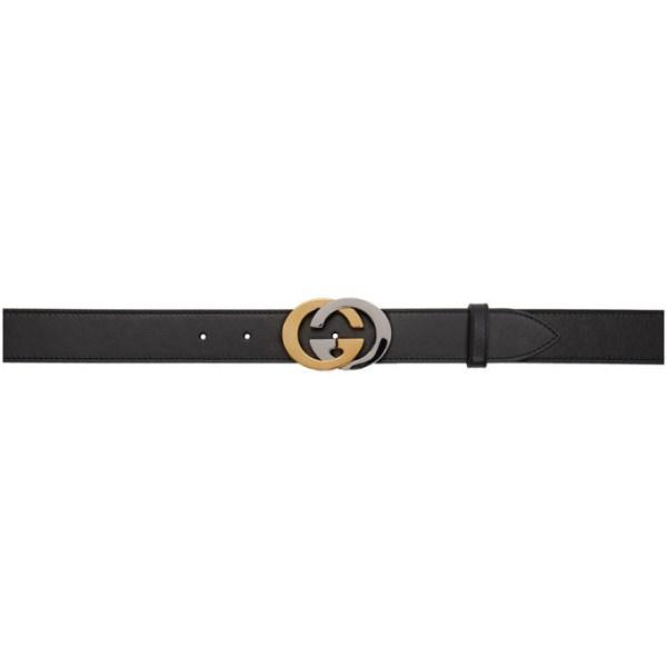 Gucci Black Interlocking G Belt
