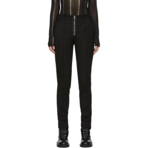 Yang Li Black Slim Exposed Zip Trousers