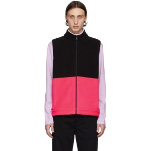 Harris Wharf London Black and Pink Polaire Vest