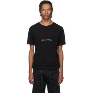 Unravel Black Jersey Elongated T-Shirt