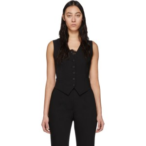 Dolce and Gabbana Black Wool Vest