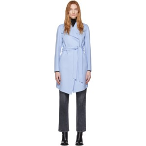 Mackage Blue Wool Laila Coat