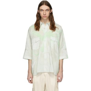 St-Henri Grey and Green Acid Short Sleeve Shirt