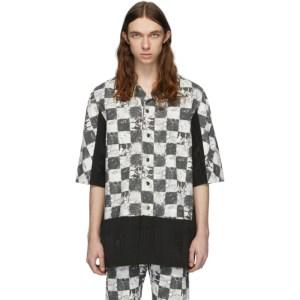 Palomo Spain Black and White Printed Short Sleeve Shirt