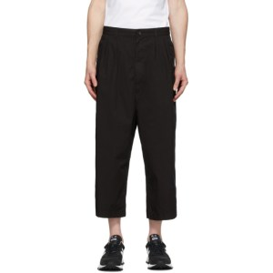 Comme des Garcons Homme Black Garment-Dyed Twill Trousers