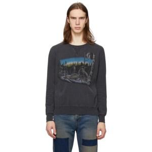 Remi Relief Black Animal Crewneck Sweater
