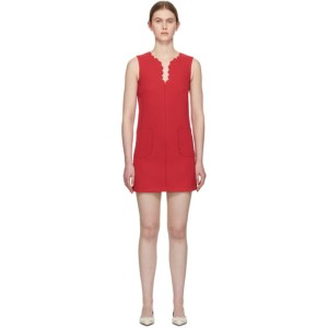 RED Valentino Red Scalloped Dress