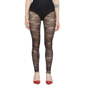 RED Valentino Black Lace Leggings
