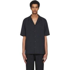 Tibi Black Chalky Drape Shirt