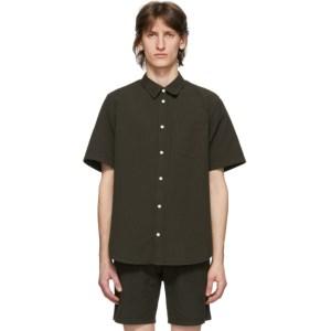 Norse Projects Green Seersucker Osvald Shirt