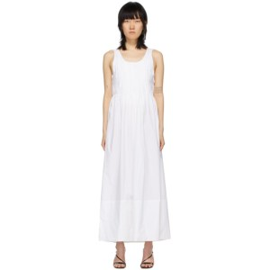 Markoo White The Pleated Dress