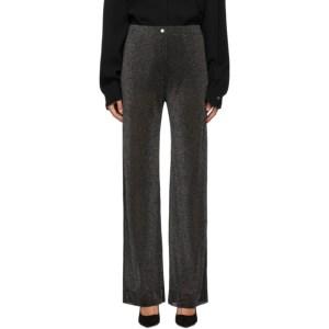 Alanui Black Knit Sheer Glitter Trousers