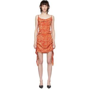 Charlotte Knowles Red Coil Short Dress