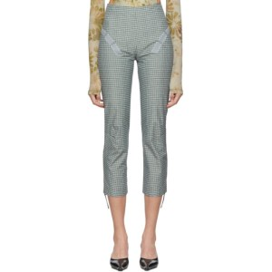 Charlotte Knowles Blue Check Tactical Trousers
