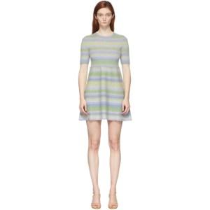 Marc Jacobs Multicolor Lurex Striped Dress