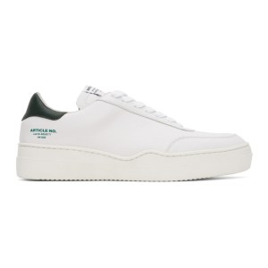Article No. SSENSE Exclusive White and Green 0517-04-04 Sneakers