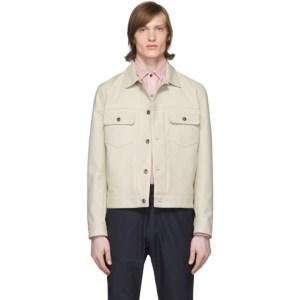 Eidos Beige Cotton Trucker Jacket