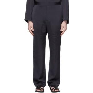 Deveaux New York Navy Satin Lounge pants