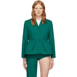 Pushbutton Green Overblown Single Blazer