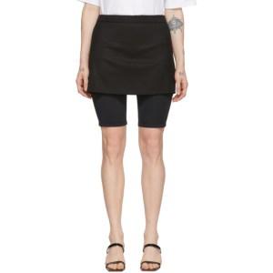 Pushbutton SSENSE Exclusive Black Skirt Layered Short Leggings