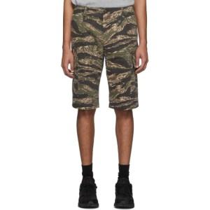 Junya Watanabe Khaki and Brown Camouflage Chino Cargo Shorts