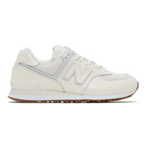 Junya Watanabe White New Balance Edition 574 Steer Sneakers