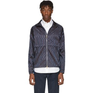 Paul Smith Navy Check Windbreaker Jacket