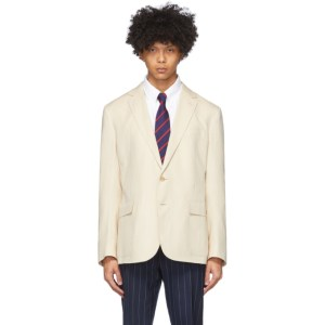 Ralph Lauren Purple Label Beige Twill Hadley Blazer