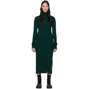 S.R. STUDIO. LA. CA. Green Rib Funnel Neck Dress
