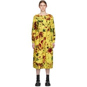 S.R. STUDIO. LA. CA. Yellow Cotton Long Sleeve Summer Dress