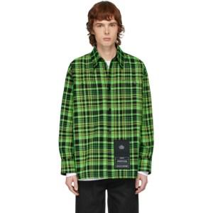 S.R. STUDIO. LA. CA. Green Open-Weave Check Oversized Shirt