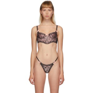 Agent Provocateur Black and Pink Gracelyn Bra