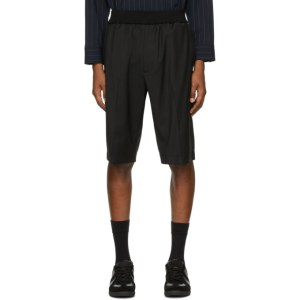 3.1 Phillip Lim Black Wool Tapered Shorts
