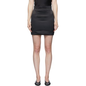 Materiel Tbilisi Black Satin Miniskirt