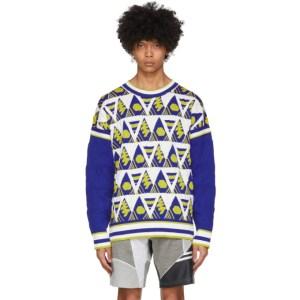 Ahluwalia Multicolor Triangle Knit Sweater