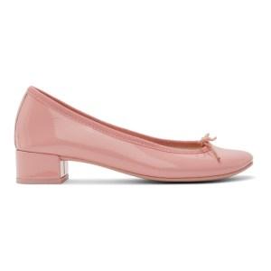 Repetto Pink Patent Lou 30 Ballerina Heels