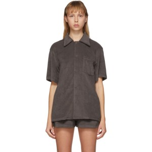 Gil Rodriguez SSENSE Exclusive Brown Terry Bowling Shirt