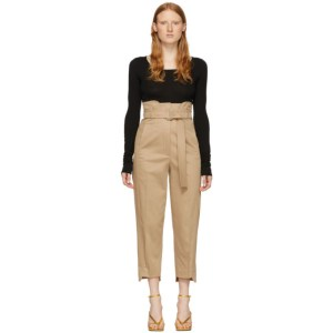 Sportmax Beige Peggi Inverted Cargo Trousers