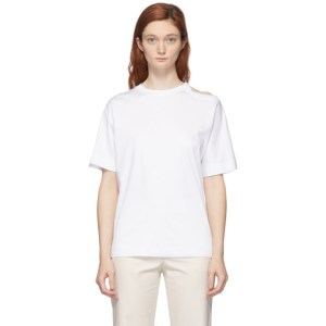 Sportmax White Raid Cut-Out T-Shirt