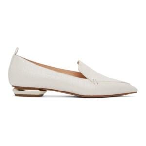 Nicholas Kirkwood White Croc Beya 18 Loafers