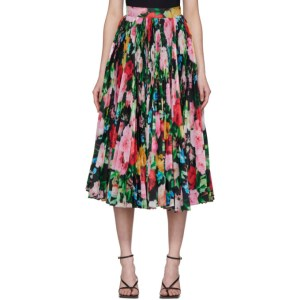 Richard Quinn SSENSE Exclusive Black Floral Skirt