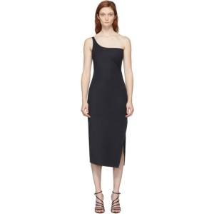 Coperni Black Motion Cocktail Midi Dress