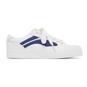 Li-Ning White and Blue Vintage Wave Sneakers