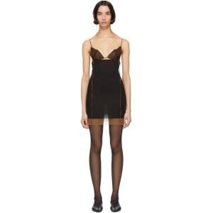 Nensi Dojaka SSENSE Exclusive Black and Brown Silk 7 Dress