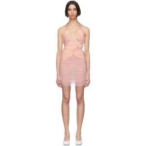 Nensi Dojaka SSENSE Exclusive Pink Silk 11 Dress