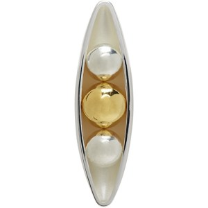 Anne Manns Gold and Silver Sadie Single Stud Earring
